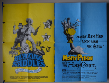 Blazing Saddles / Monty Python and the Holy Grail (1975) Film Poster - UK Quad